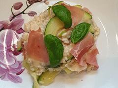 Zucchini Risotto mit Prosciutto VKB-Bank