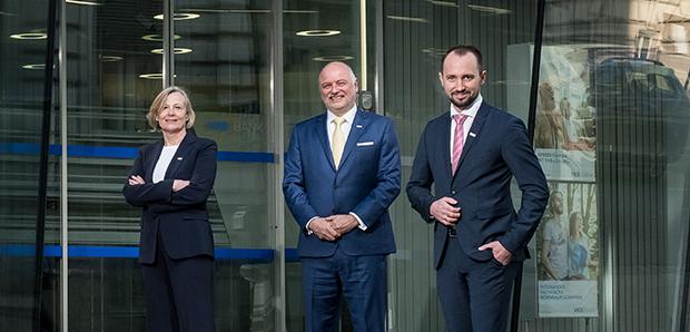 Das VKB-Vorstandsteam Maria Steiner, Alexander Seiler und Markus Auer