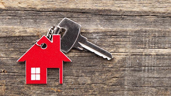 Schlüssel mit Haus