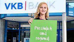 Lisa Hörmanseder, neue Filialleiterin der VKB-Bank Traun