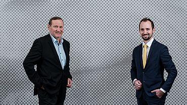 Aufsichtsratsvorsitzender Präsident MMag. Matthäus Schobesberger und Mag. Markus Auer.