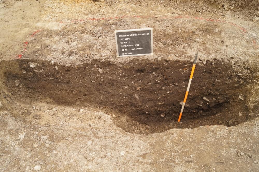 Profil durch eine römische Abfallgrube