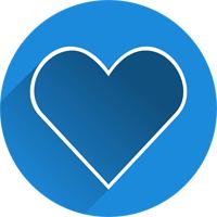 Icon Herz Unterstützung für unsere Mitmenschen